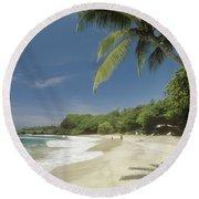 Hana Coast, Hamoa Beach Round Beach Towel