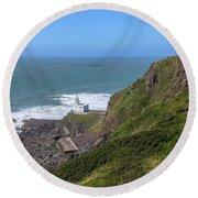 Hartland Point - England Round Beach Towel