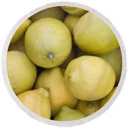 Harvested Lemons Round Beach Towel