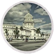 Havana National Capitol Round Beach Towel