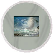 Hawaii Seascape Round Beach Towel