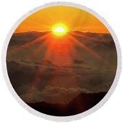 Hawaiian Sunrise Round Beach Towel