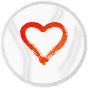 Heart - Symbol Of Love Round Beach Towel