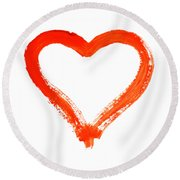 Heart - Symbol Of Love Round Beach Towel
