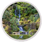 Heavenly Falls In Spring Round Beach Towel