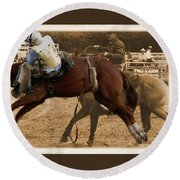 Helluva Rodeo-the Ride 6 Round Beach Towel