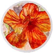 Hibiscus 2 Round Beach Towel