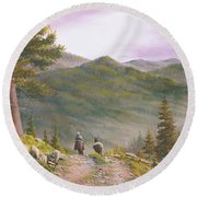 High Country Trails Round Beach Towel