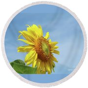 Higher And Higher Round Beach Towel
