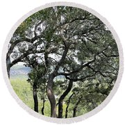 Hill Country Round Beach Towel