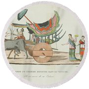 Hiram Round Beach Towel