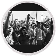 Hispanic Anti-viet Nam War Rally Tucson Arizona 1971 Round Beach Towel
