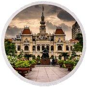 Ho Chi Minh City Hall Round Beach Towel