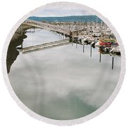 Homer Boat Ramp Round Beach Towel