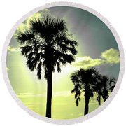 Honeymoon Island Sunset Round Beach Towel