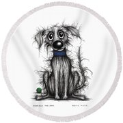 Horrible The Dog Round Beach Towel