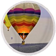 Hot-air Balloning Round Beach Towel by Heiko Koehrer-Wagner