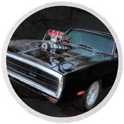 Hot Rod Round Beach Towel