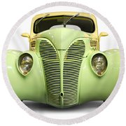 Hot Rod Ford Coupe 1938 Round Beach Towel