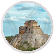 House Of The Magician Round Beach Towel