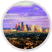 Houston 1980s Round Beach Towel