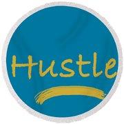 Hustle Round Beach Towel
