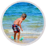 I Can Do This Round Beach Towel