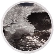 Ice And Sparkling Water Round Beach Towel