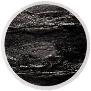 Ice Texture Abstract Round Beach Towel