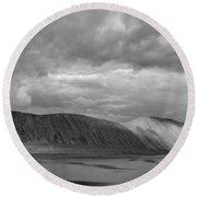 Iceland Mountains Panorama Round Beach Towel