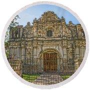 Iglesia San Jose El Viejo - Antigua Guatemala Hdr Round Beach Towel