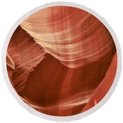 Impressions Of Antelope Canyon 1 Round Beach Towel