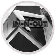 In-n-out Round Beach Towel