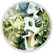 In The Jungle Round Beach Towel by Mindy Newman