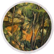In The Park Of Chateau Noir Round Beach Towel