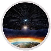 Independence Day Resurgence 2016  Round Beach Towel