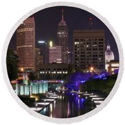 Indianapolis Canal View Round Beach Towel