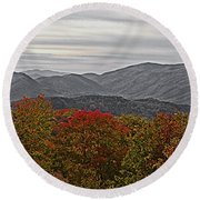 Infinite Smoky Mountains Round Beach Towel by DigiArt Diaries by Vicky B Fuller