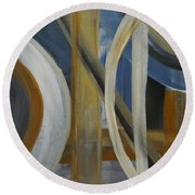 Intersection In Blue 1 Round Beach Towel