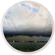 Into The Storm Round Beach Towel