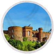 Inverness Castle, Scotland Round Beach Towel