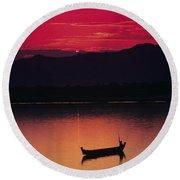 Irrawaddy River Round Beach Towel
