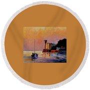 Italy - Trieste Gulf Round Beach Towel