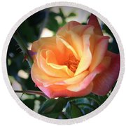 Jacob's Rose Round Beach Towel