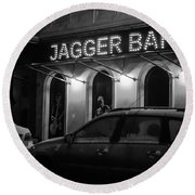 Jagger Bar In Ufa Russia Round Beach Towel