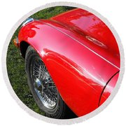 Jaguar E-type Round Beach Towel