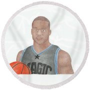 Jameer Nelson Round Beach Towel by Toni Jaso