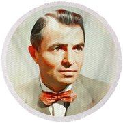 James Mason, Vintage Movie Star Round Beach Towel