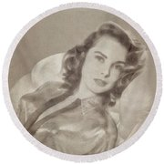 Janet Leigh, Vintage Actress Round Beach Towel