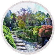 Japanese Garden 3 Round Beach Towel